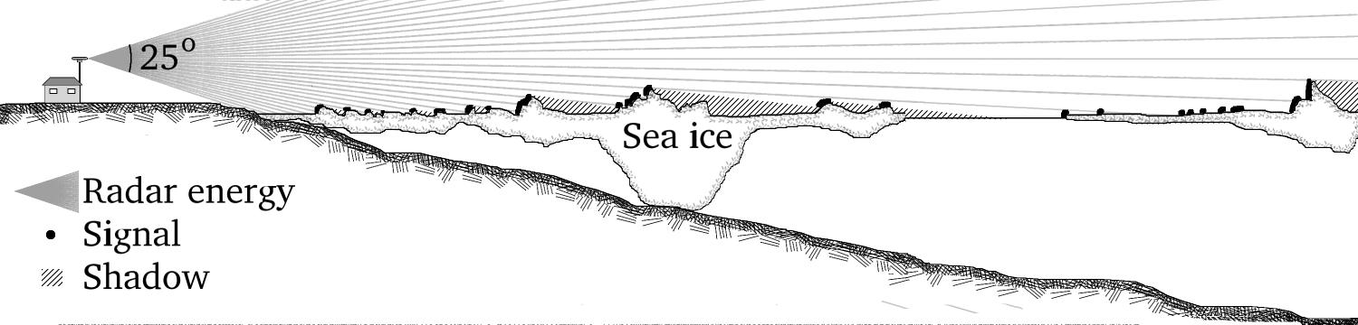 Sea Ice Radar Signals and Shadows